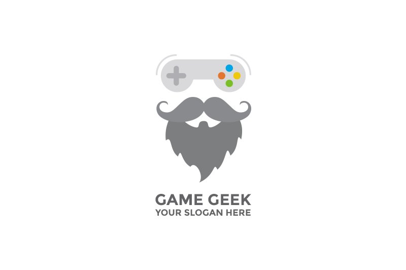 Game Geek Logo Templates Creative Market