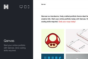 Qanvas - Portfolio Wordpress Theme