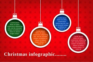 Christmas infographic, editable text