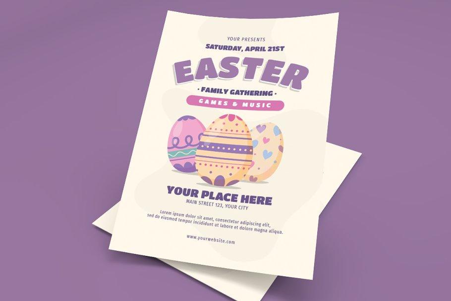 Easter Family Gathering Flyer