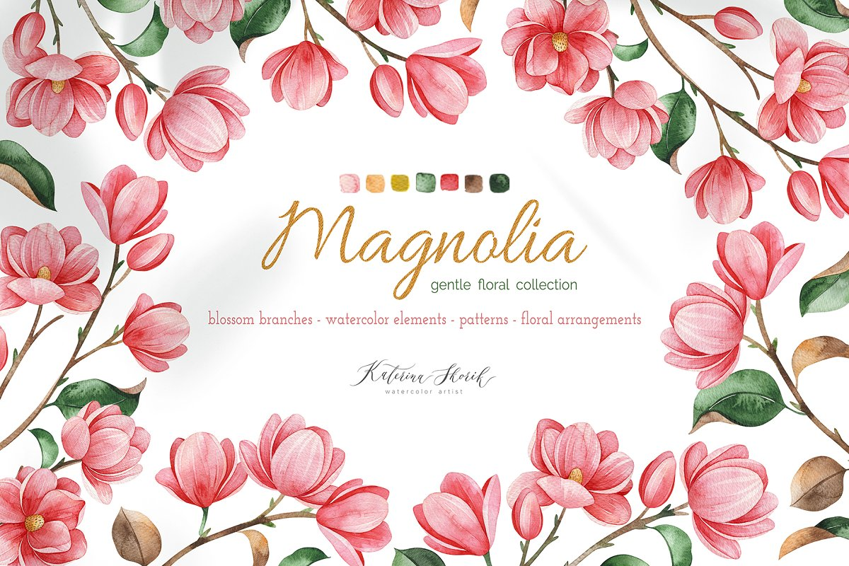 Magnolia.Gentle Floral Collection in Illustrations - product preview 8