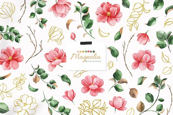 Magnolia.Gentle Floral Collection in Illustrations - product preview 2
