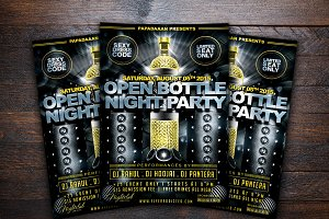 Open Bottle Night Party Flyer
