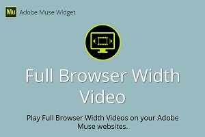 Full Browser Width Video Muse Widget