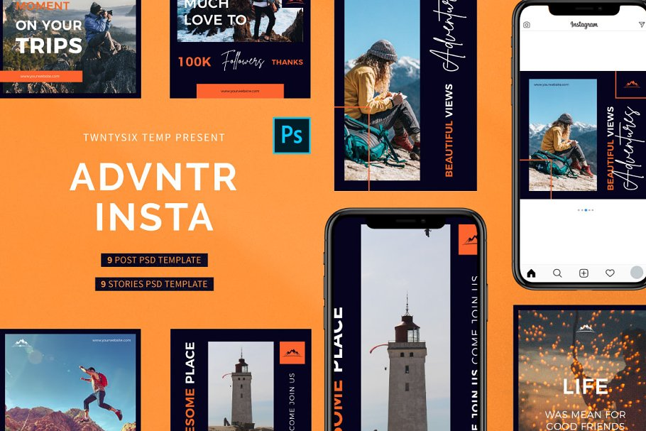 Advntr Post & Stories Pack