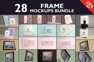 Photo & Poster Frame Mockup Bundle