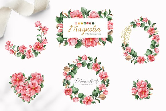 Magnolia.Gentle Floral Collection in Illustrations - product preview 6