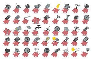 set 45 savings icons