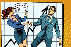 Bingo financial success dance