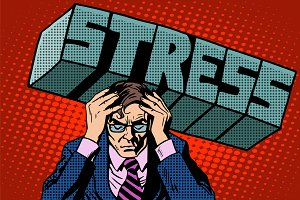 Stress problems severity businessman