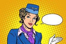 Stewardess airline travel