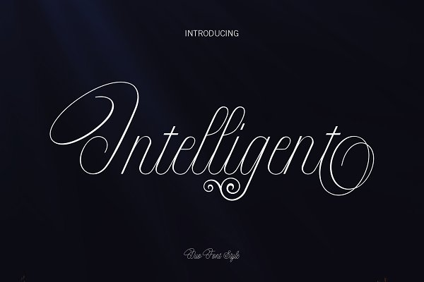 Intelligent   Duo Font Style