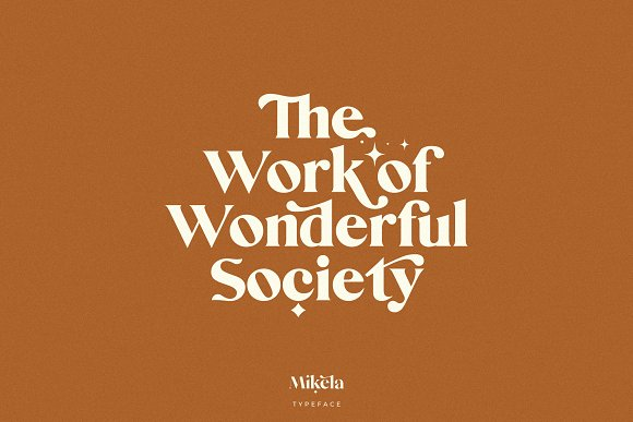 Mikela - 50% OFF Gorgeous Typefaces in Serif Fonts - product preview 28