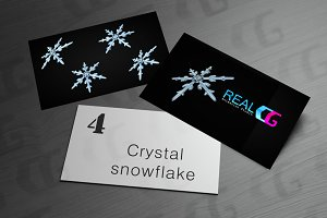 Crystal snowflake isolate