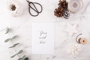 Christmas stationery mock up + Bonus