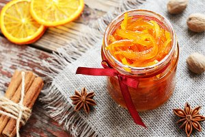 Orange candied peels