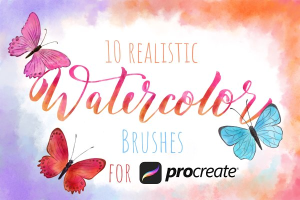 Watercolor Procreate Brushes Set