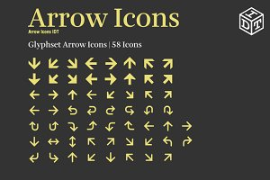 Arrow Icons Font + Web Font(Free)