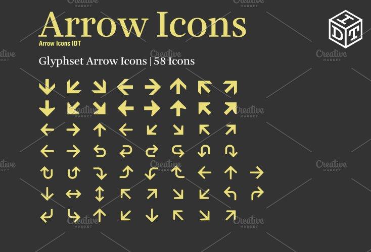 Arrow Icons Font Web Fontfree Symbol Fonts Creative Market