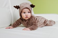 Funny boy with Deer costume