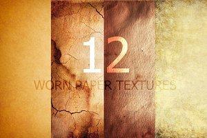 12 worn paper textures