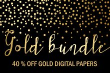 40% OFF Gold Bundle: Gold Papers