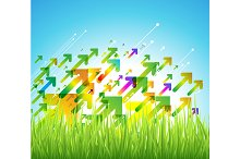 Spring arrow background