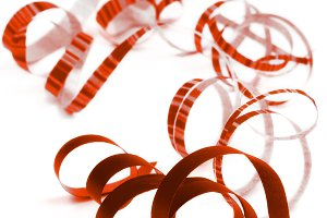 Red Curled Streamers