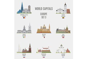 World capitals. Europe # 3
