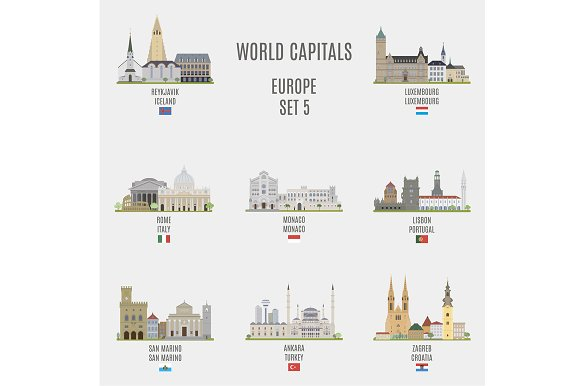 World capitals. Europe # 5 - Objects