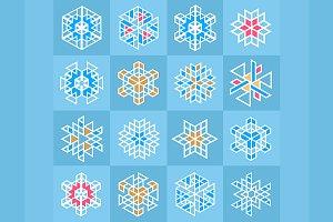 Icons  snowflakes