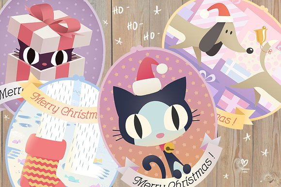 Christmas cats and co. set - Illustrations