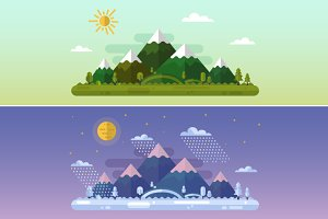 Summer & Winter Landscapes