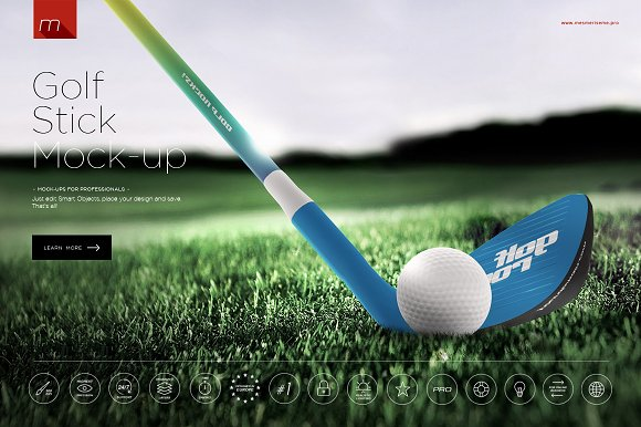 Free Golf Stick Mock-up