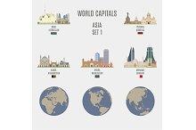 World capitals. Asia  # 1