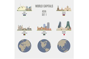 World capitals. Asia  # 1