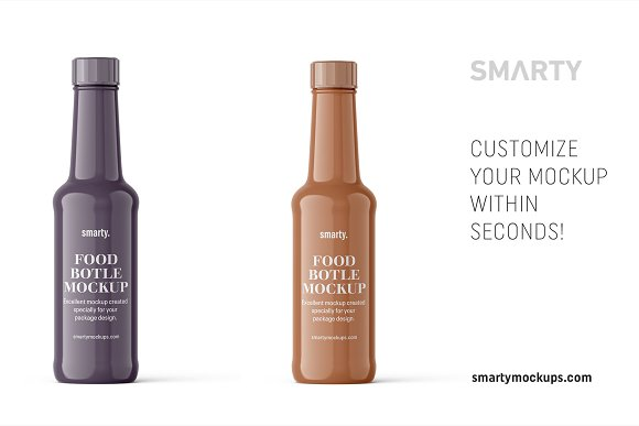 Glossy bottle mockup in Product Mockups - product preview 2