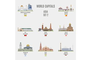 World capitals. Asia  # 2