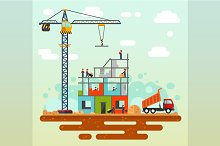 Vector illustration of Construction