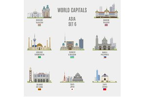 World capitals. Asia  # 6
