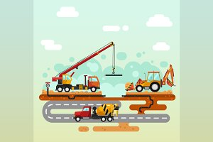 Vector illustration of Construction