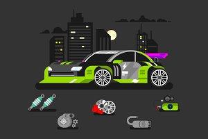 Tuned car nitrous oxide