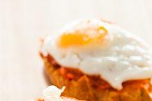 Fried eggs with sobrasada