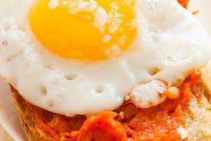 Eggs with sobrasada