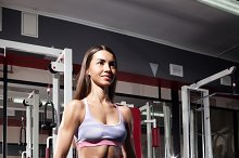 athletic woman at the gym