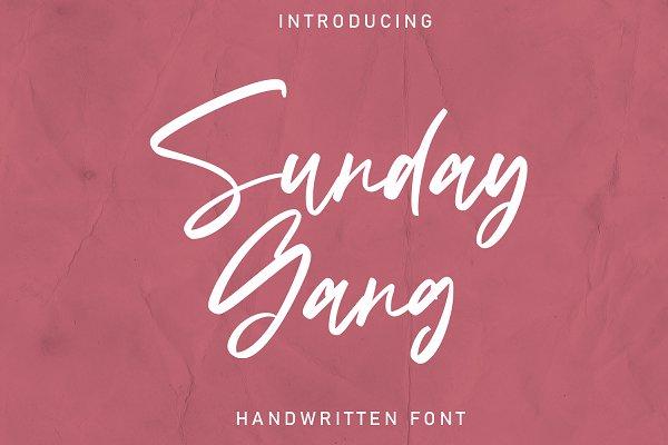 Sunday Gang | Handwritten Font