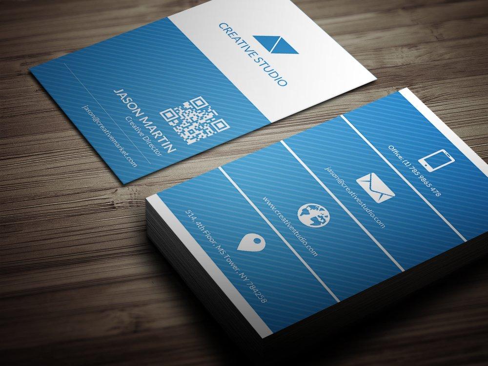 Metro flat business card business card templates creative market colourmoves