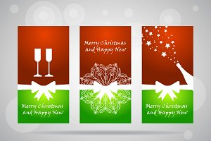 Bright ecards for new year and Chris