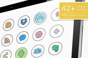 Social Media icons - ToonPro