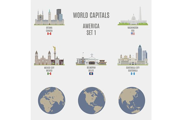 World capitals. America # 1 - Objects